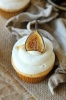 Cupcakes + Sweet Mascarpone Frosting + Carmelized Figs!
